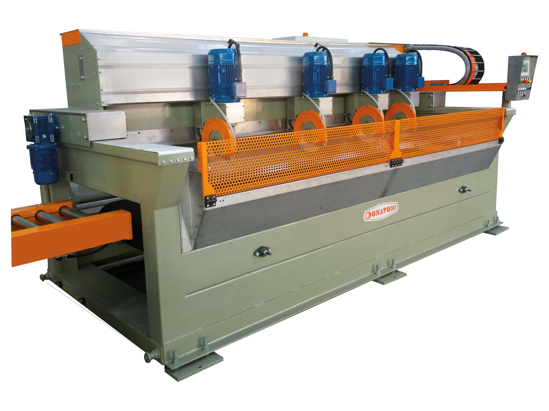 Automatic multiblade cross cutting machine