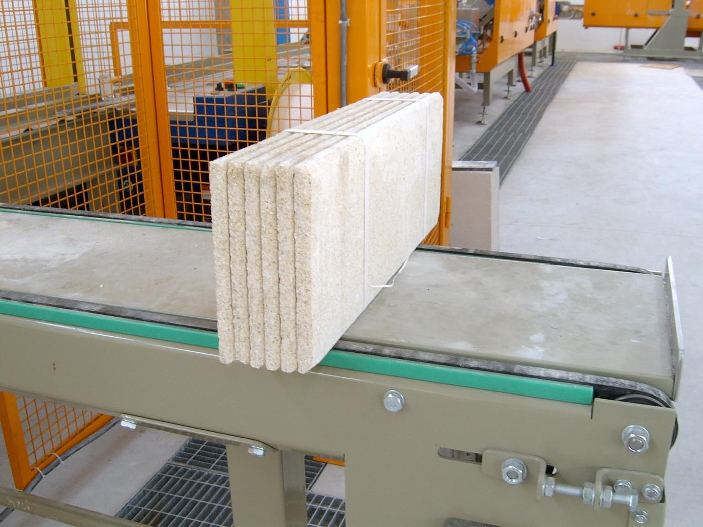 Processing of concrete tiles