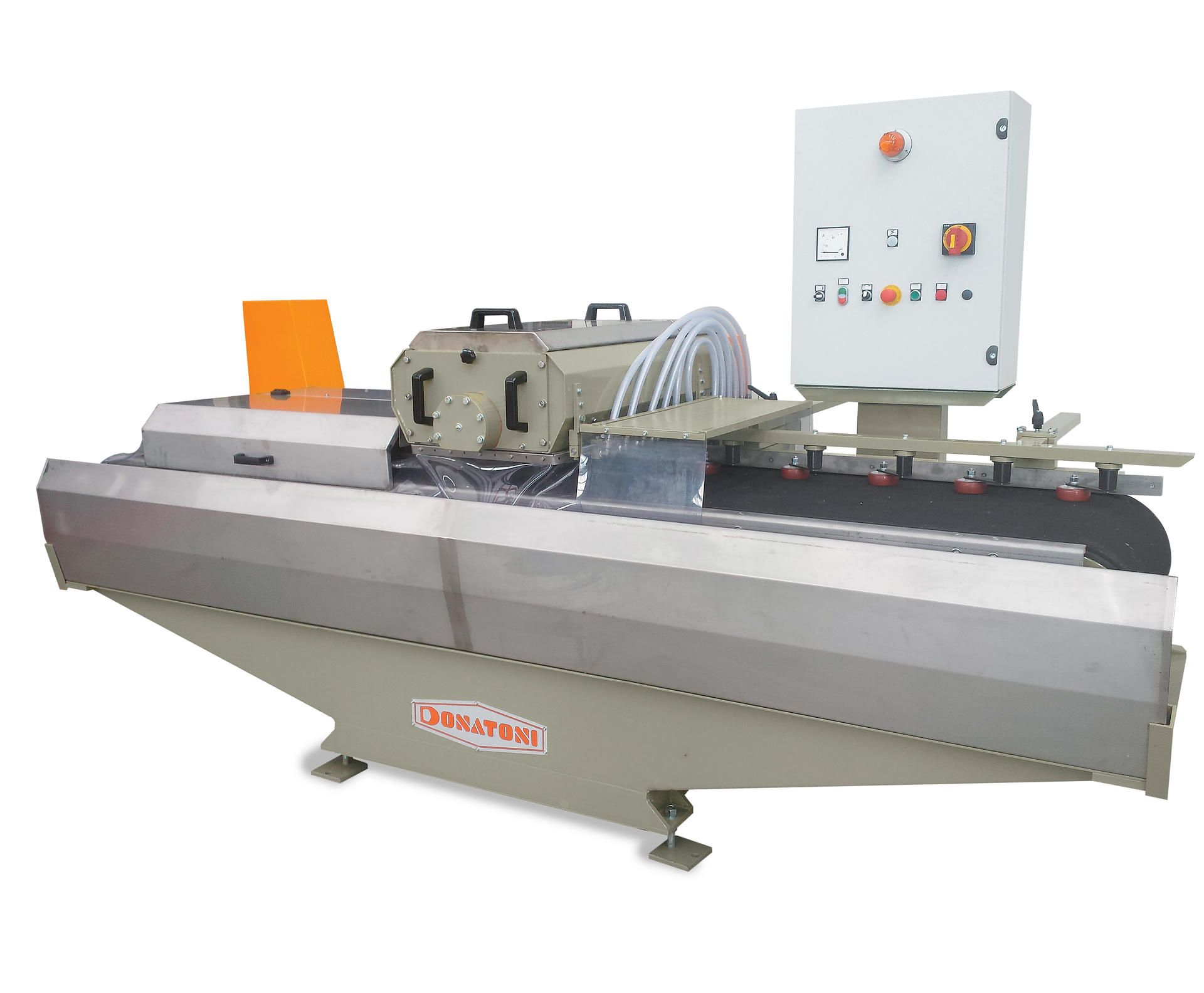 Monospindle multiblade trimming machine